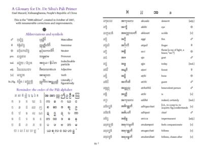 Pali grammar for Beginners